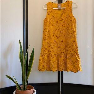 Anthropologie   Dolan   Mustard Eyelet Tunic Dress